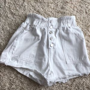 Paperpage denim shorts